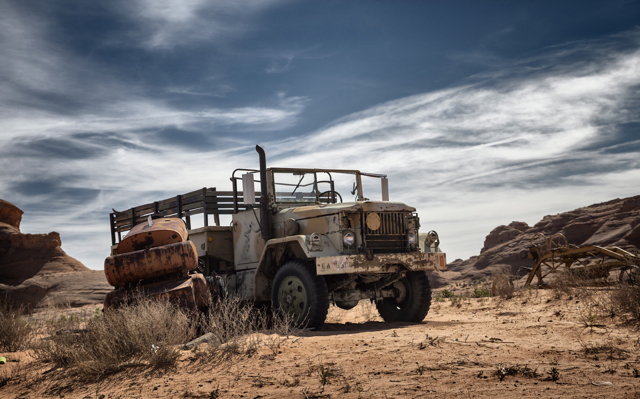 ghost vehicle LeTruck in Page, AZ