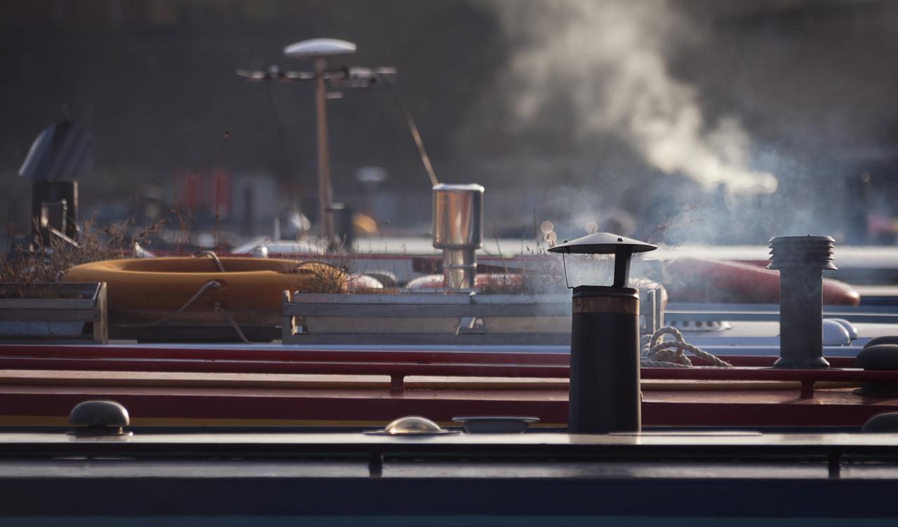 Boote im Kanal von London