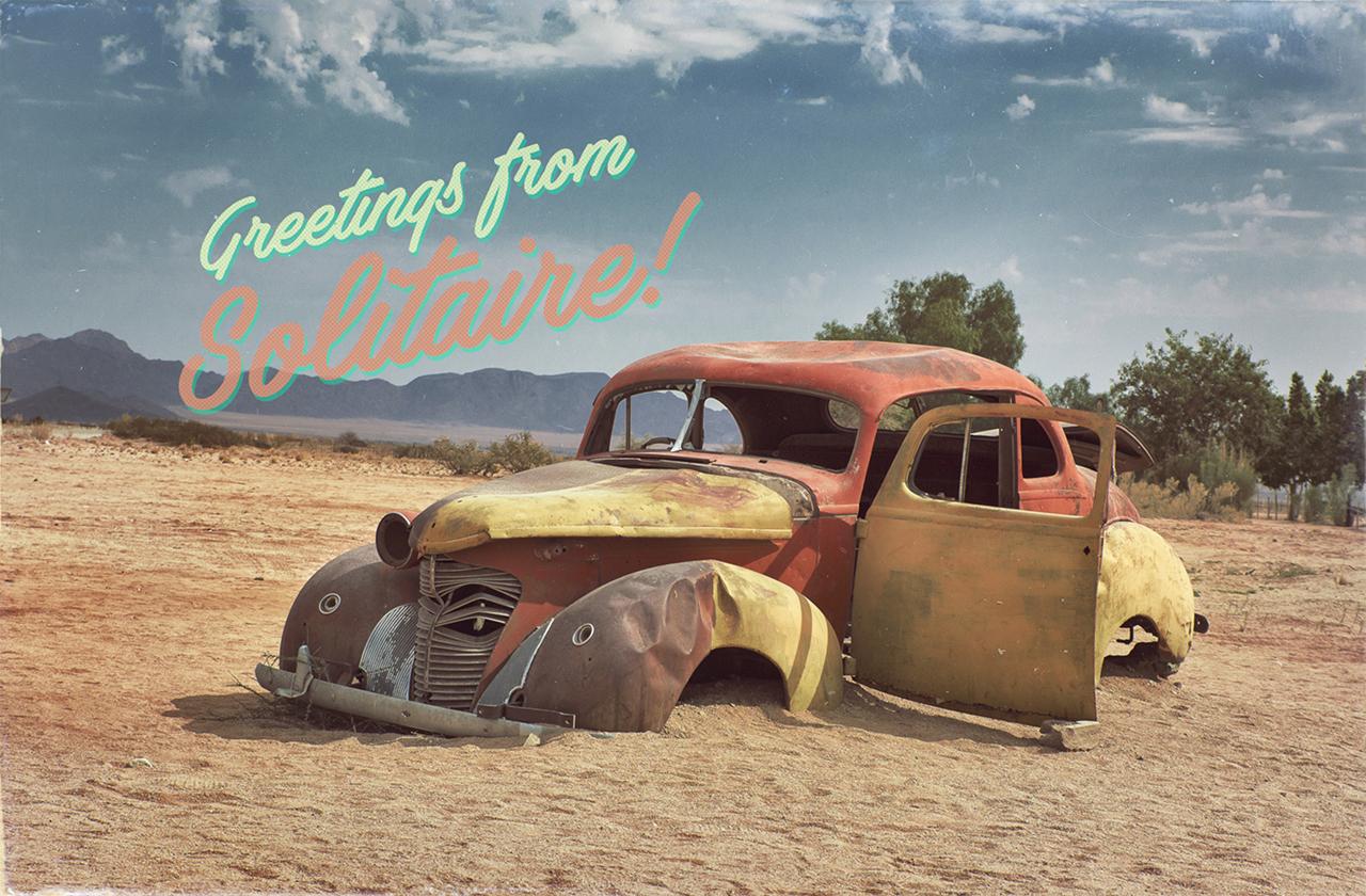 Fake postcard