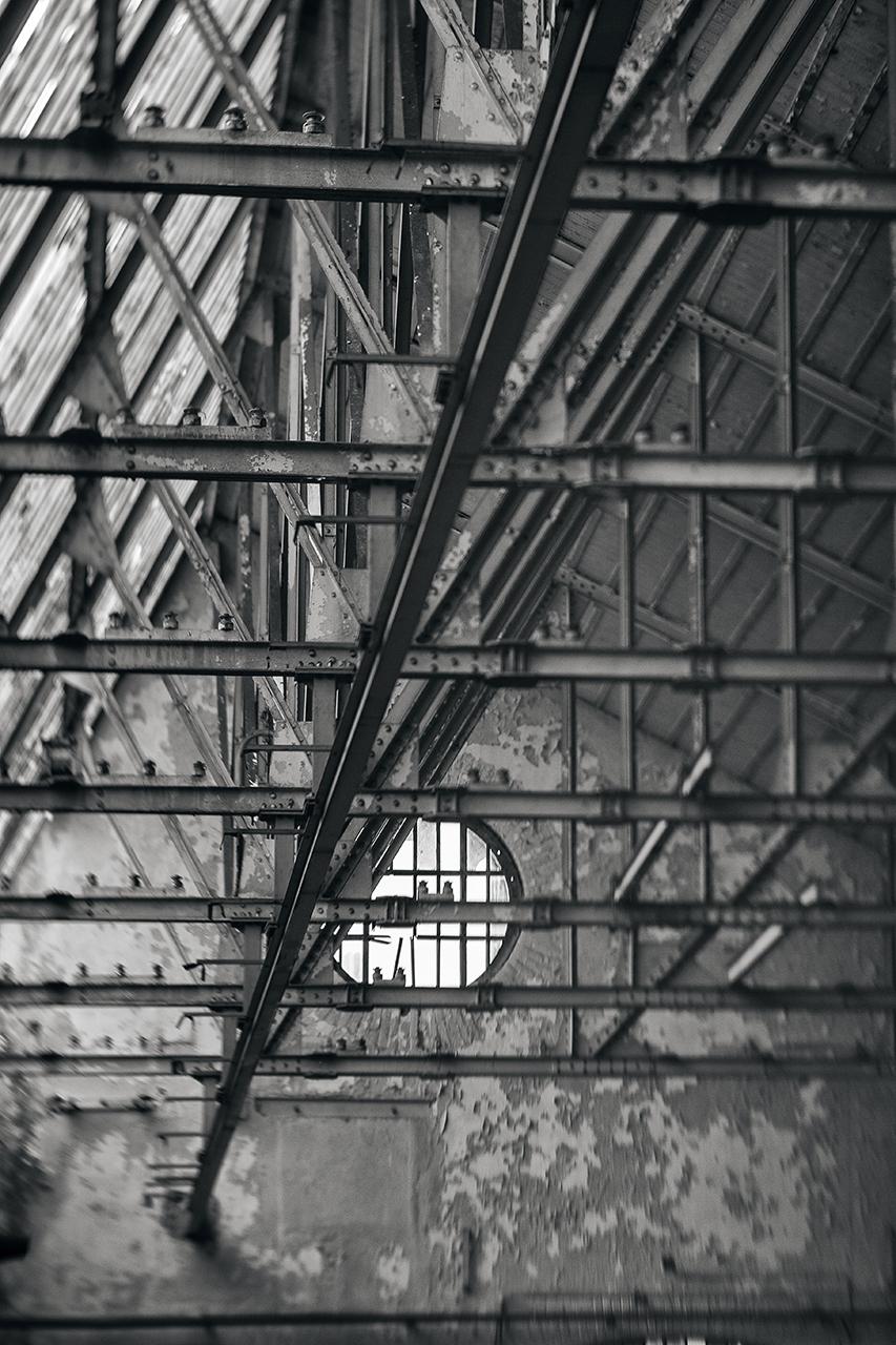 window frames & steel beams